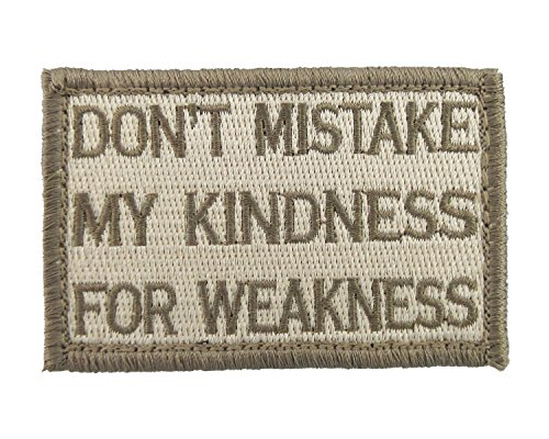 Kindness Weakness Embroidered Morale Tags