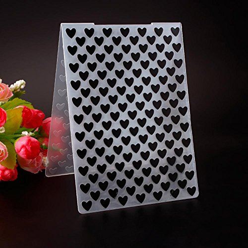 Niome Plastic Embossing Folders Simple Design Lovely Heart Pattern for DIY Card Making Decoration Supplies Large Heart