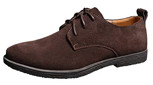 Zapatos de cordones de gamuza para hombre, tela Oxford, de Fangsto, color Multicolor, talla 4.5 UK