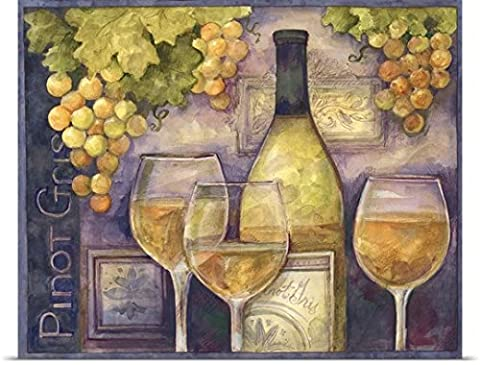 Susan Winget Poster Print entitled Pinot Gris - Work Pinot Gris Wine