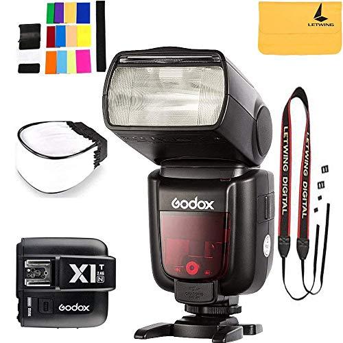 Godox TT685N Thinklite TTL Camera Flash High Speed 1/8000s GN60 Compatible Nikon Cameras I-TTL II Autoflash,Godox X1T-N 2.4 G Wireless Flash Trigger Transmitter Compatible Nikon Series Cameras