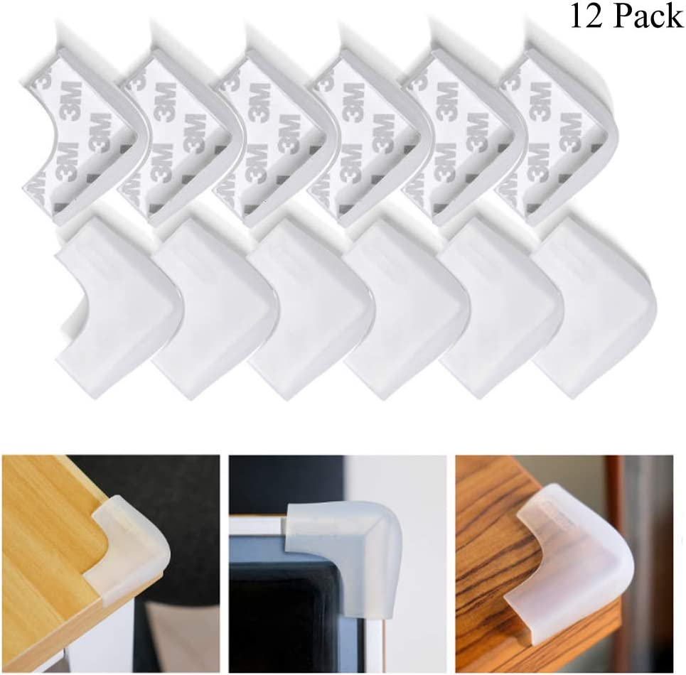 Coffee Brown16pcs Miracle Baby Proofing Edge Tape Corner Guards Furniture Protective Set Table Edge Protectors Corner Cushion with Double Side 3M Tape