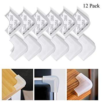 12 pcs Baby corner protector,Kids safety table desk edge Corner Guards Silicone