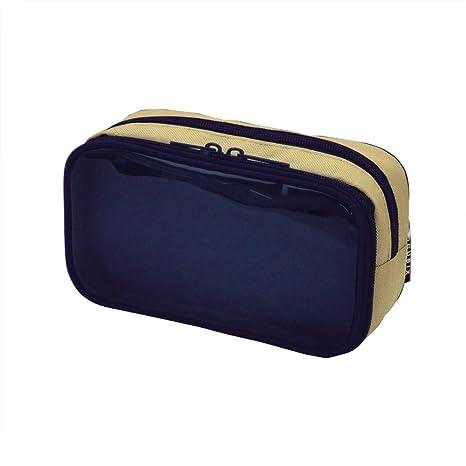 92308feb0c64 Amazon.com : Cubic scan pen case round Zip clear surface navy ...