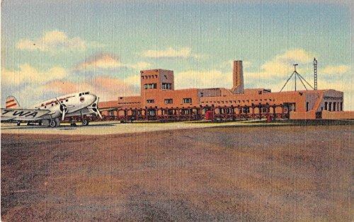 Albuquerque New Mexico Municipal Airport Administration Building postcard V4868