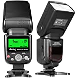 Voking VK750 Manual LCD Display Universal Flash Speedlite for Canon Nikon Pantax Panasonic Olympus Fijifilm DSLR Mirrorless Cameras and Sony Cameras with Mi Hot Shoe