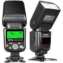 Voking VK750 Manual LCD Display Universal Flash Speedlite for Canon Nikon Pantax Panasonic Olympus Fijifilm DSLR Mirrorless Cameras and Sony Cameras with Mi Hot Shoe