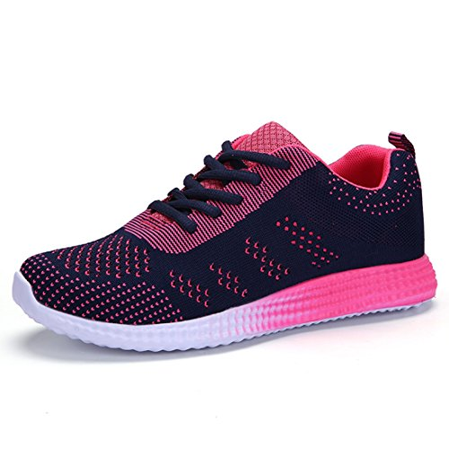 Casual Sneakers Sportlich Aqua Schnell Schuhe Slip Sport Mesh Wasser Leichte Blau SEVENWELL Frauen Trocknend on pqOw77
