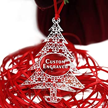 Customized 2019 Christmas Tree Ornaments | Custom Engraved Family Holiday Decorations - Personalized Acrylic Lace Pattern
