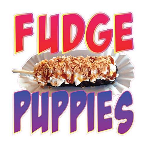 Die-Cut Sticker Multiple Sizes Fudge Puppies Style A Restaurant & Food Fudge Indoor Decal Concession Sign Purple - 18in Longest - Fudge Style