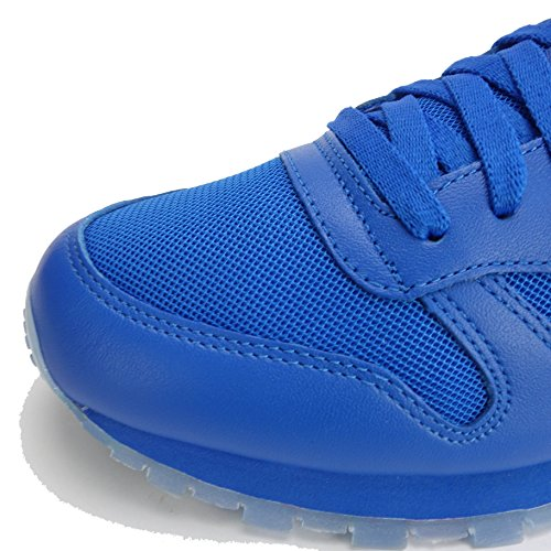Reebok Classic Leather, Baskets mode pour homme Buff Blue-Ice