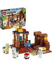 LEGO 21167 Minecraft De Handelspost Bouwset met Poppetjes van Steve en Skelet, Constructiespeelgoed voor Kinderen vanaf 8 Jaar