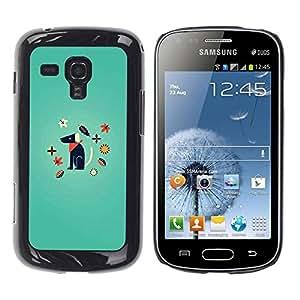 Be Good Phone Accessory // Dura Cáscara cubierta Protectora Caso Carcasa Funda de Protección para Samsung Galaxy S Duos S7562 // Minimalist Dog Puppy Cartoon