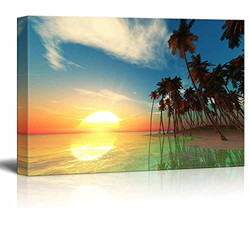 Beautiful Tropical Island Wall Decor ation - Canvas Art | Wall26