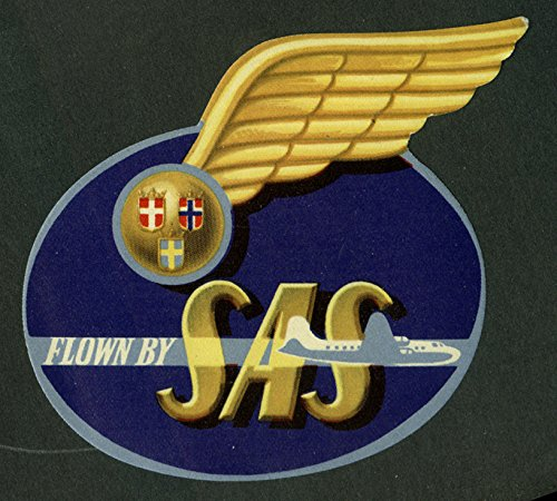 Flown By Sas Scandinavian Airlines System Baggage Sticker