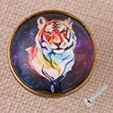 Zinc Alloy Door Drawer Cabinet Dresser Wardrobe Pull Handle Knob Decor Tiger