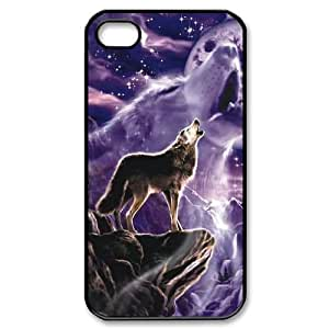 LSQDIY(R) Howling wolf iPhone 4,4G,4S Case Cover, Customized iPhone 4,4G,4S Cover Case Howling wolf