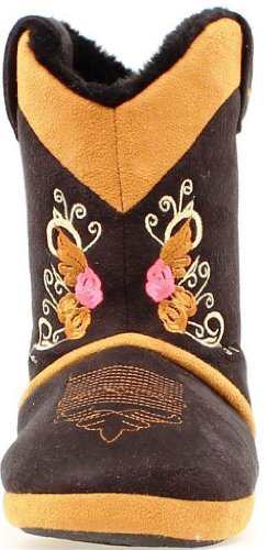 Justin Infant-Girls' Scroll And Wing Embroidered Slippers Black X-Large US -