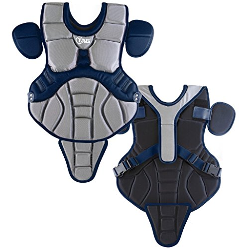 TAG Pro Series Youth Body Protector (Grey/Navy) - Pro Gold Chest Protector