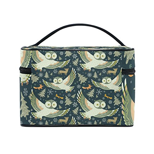 Owl Pattern Print Cosmetic Bags Travel Makeup Toiletry Organizer Case by Franzibla
