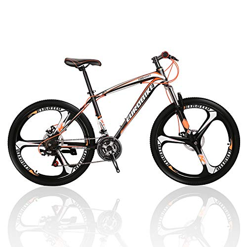 (Outroad Mountain Bike 700c 21 Speed 3 Spoke Commuter Bicycle(Red/Orange))
