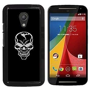 // PHONE CASE GIFT // Duro Estuche protector PC Cáscara Plástico Carcasa Funda Hard Protective Case for Motorola G 2ND GEN II / Mal Habilidad Gray Griñán /