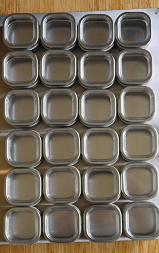 Petite Culinarian II 12'' x 18'' Magnetic Spice Rack - 24 Spice Tins - Choose Color, Choose Spice Tin size (6 oz, Brushed Stainless Steel) by Versa-TinTM