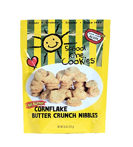 Assorted Butter Cookies (School Kine Cookies Hawaiian-style Butter Cookies, Bite-sized Cornflake Butter Crunch with Homemade Taste, Small Snacks For Kids and Adults, (26 oz))