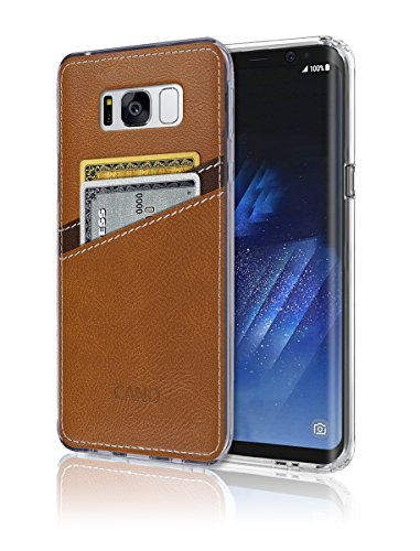 S8 Plus Case [Leather Back Cover] [Wallet Case]