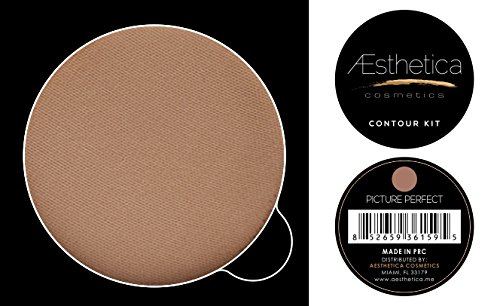 Aesthetica Cosmetics Powder Refill for Contour and Highlighting Powder Foundation Palette, Color: Picture Perfect