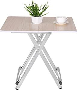 FILOL Portable Adjustable Folding Laptop Table TV Tray Folding Home Dining Table Casual and Convenient Table - US Stock (White)