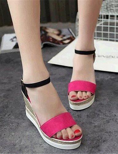 Shangyi Mujer Cuña Wedges Negro Fieltro rojo Verde gris Sandaletten Sandalias Lässig De verde Para Zapatos rqa1U