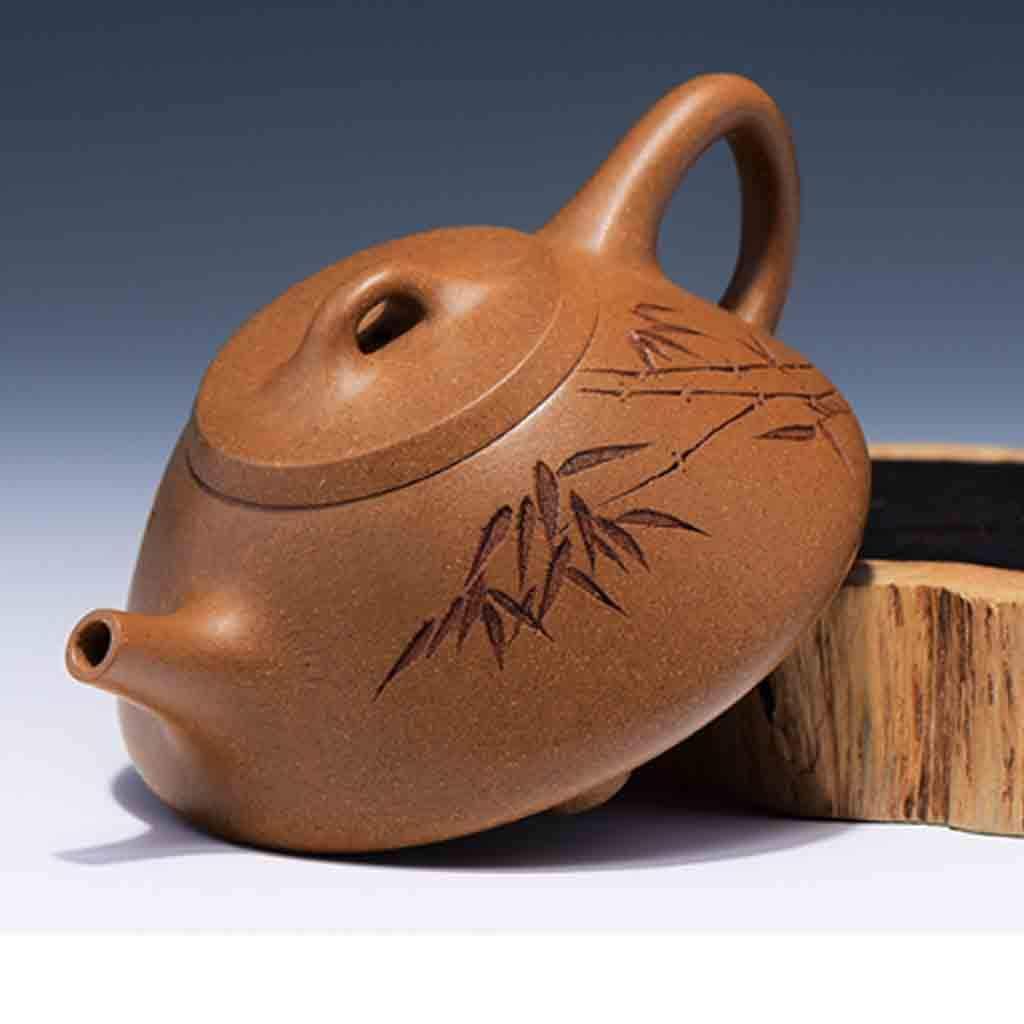 Tea Cozies Zisha Pot Pure Hand-Made Section mud Stone Scoop Xi Shi Antique Household Kung Fu teapot Tea Set (Color : Brown, Size : 16.76.87.8cm) by Tea Cozies (Image #4)