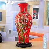 Chinese red color glaze decoration crafts/ porcelain vase/ the living room study desktop ornaments-P