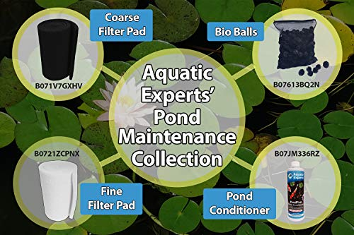 Aquatic Experts Classic Koi Pond Filter Pad COARSE - 12 Inches by 72 Inches by 1 Inch - Black Bulk Roll Pond Filter Media, Rigid Ultra-Durable Latex Coated Fish Pond Filter Material USA