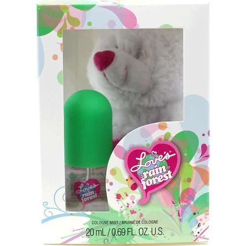 (LOVE'S BABY SOFT Rainforest Scent Cologne Mist & Teddy Bear GIFT in Box)