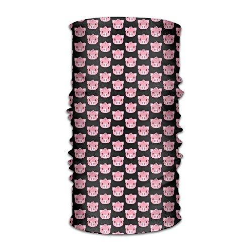 - Hong Yi Fang Cute Pink Pig Unisex Bandanas Balaclava Cap Turban Headscarf Sweatband Headwear Headscarf