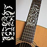 Fretboard Markers Inlay Sticker Decals for Guitar - Ornamental Swirl-WP