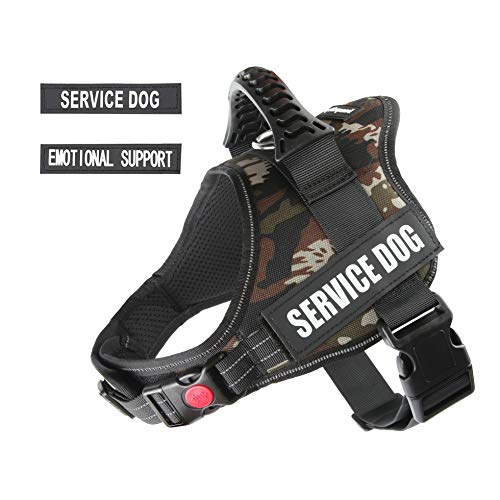 pawshoppie Real Reflective Service Dog Vest Harness 2 Free Removable Service Dog 2