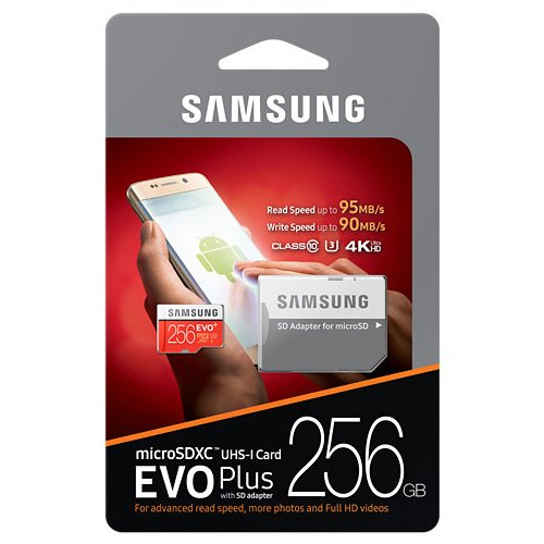 Samsung 256GB MicroSD XC Class 10 Grade 3 UHS-3 Mobile Memory Card for Samsung Galaxy S8 Active J7 J727V Max Pro with USB 3.0 MemoryMarket Dual Slot MicroSD & SD Memory Card Reader by Generic (Image #2)