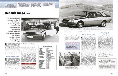 Livre voitures des années 80