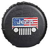 jeep 31 tire covers - Moonet Spare Wheel Tire Cover For Jeep Liberty Wrangler Commander Compass Grand Cherokee Size L R16 215/85R16 235/75R16 235/80R16 245/70R16 245/75R15 245/75R16 75387 (Diameter 30