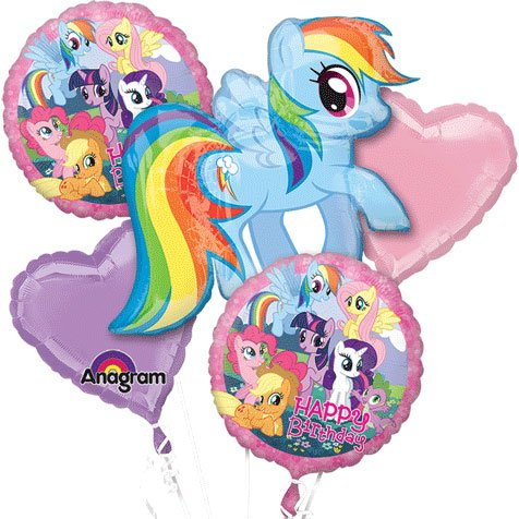 Anagram International My Little Pony Birthday Bouquet, Multicolor -