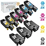 LD © Set of 9 Compatible Toners to Replace Dell C1660w Laser Toner Cartridges: 3 Black 332-0339, 2 Cyan 332-0400, 2 Magenta 332-0401 and 2 Yellow 332-0402, Office Central