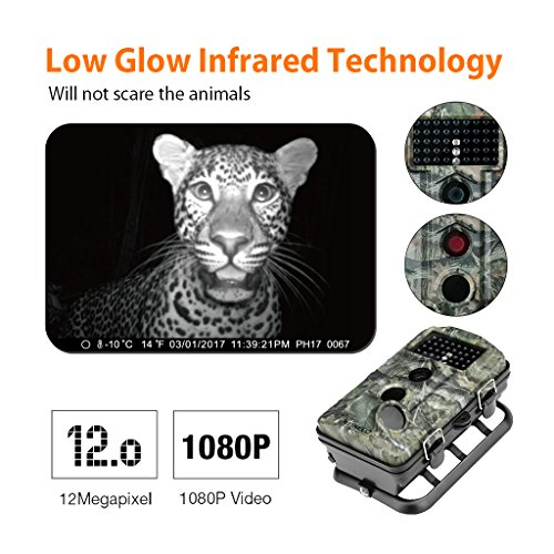 Review ENKEEO PH730S Trail Camera 1080P 12MP HD Wildlife Game Hunting Cam with 42PCS 840NM IR LEDs Night Vision, 0.2s Trigger Time, 2.4″ LCD Screen, Time Lapse, 65ft Range and IP54 Water Resistant