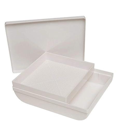 ORYX 5150700 Harinador Cernedero de Plástico con Tapa, Blanco, 1 cm