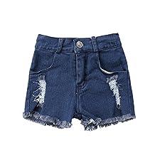 Little Kids Boys Girls Harem Pants Lovely Hole Denim Bloomers Baby Daytime Shorts