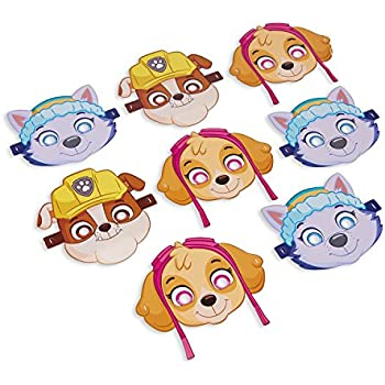 American Greetings PAW Patrol Pink Masks (8 Count)