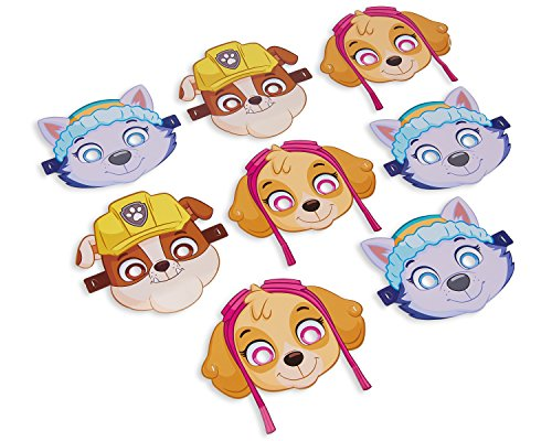 American Greetings PAW Patrol Pink Masks (8 (Party City Birthday Party Supplies)
