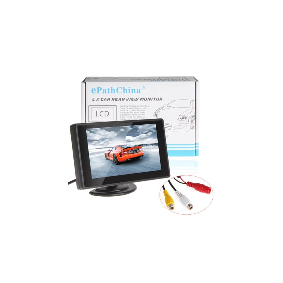 BW 4.3 Color TFT Car Monitor Support 480 x 272 Resolution + Car Rear view Mirror System Monitor, Mini Monitor for Car / Automobile